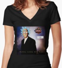 Rick And Morty Rickroll - Rick Astley Parody Women's Fitted V-Neck T-Shirt
