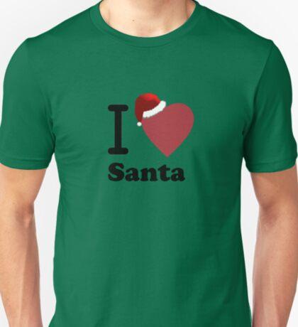 I Love Santa ( Black Text T-Shirt & Sticker) T-Shirt