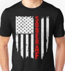 Sober AF - Sobriety Flag Shirt T-Shirt