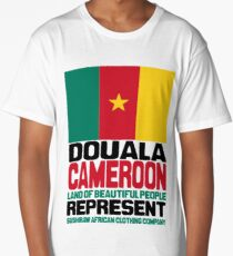 Cameroon, represent proudly Long T-Shirt