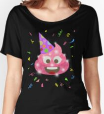 Pink Poop Funny Kids Emoji Birthday Party Women's Relaxed Fit T-Shirt