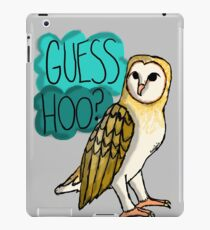 Guess Hoo? iPad Case/Skin