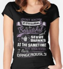 Tipsy bartender Women's Fitted Scoop T-Shirt