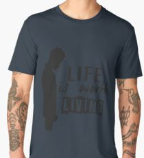 Life Is Worth A Living // Purpose Pack // Men's Premium T-Shirt