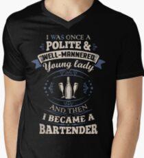 Funny bartender shirts Men's V-Neck T-Shirt