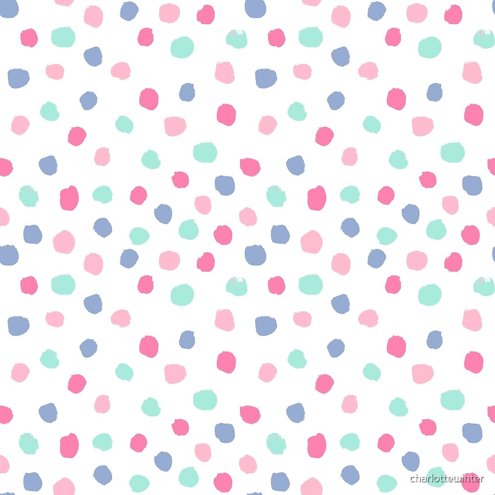 Pastel Painted Dots Pattern Minimal Mint And Pink Nursery Home Decor  Patterns By CharlotteWinter By Charlottewinter