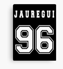JAUREGUI - 96 // White Text Canvas Print