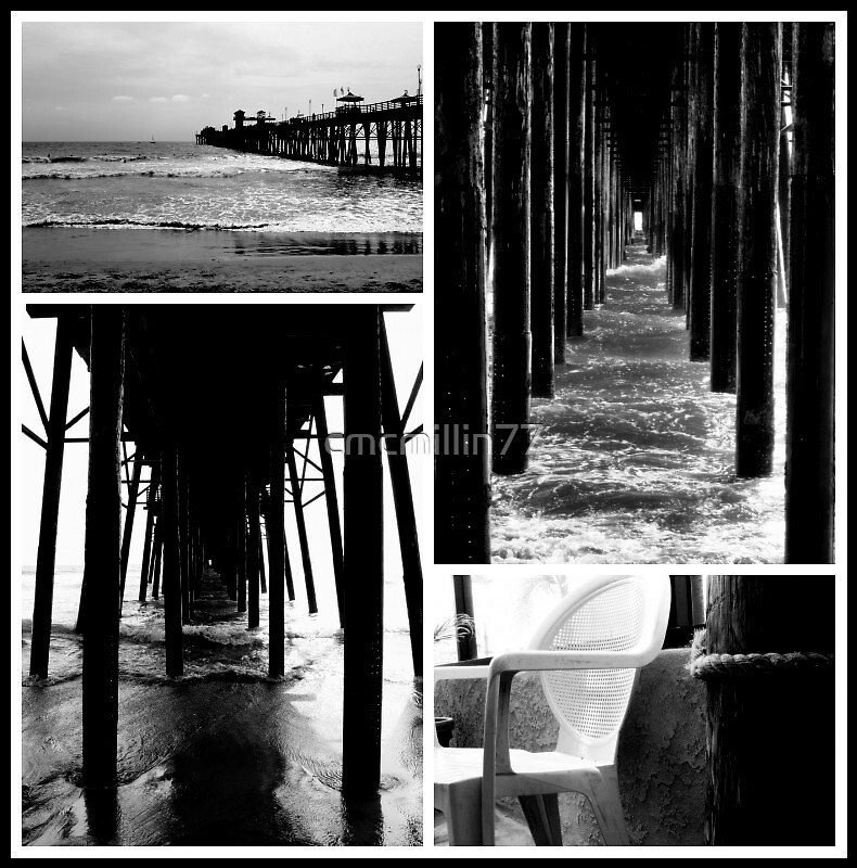 4 views of Oceanside, Cali beach by cmcmillin77