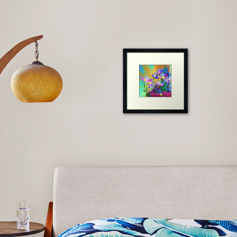 Flowers bloom Framed Art Print