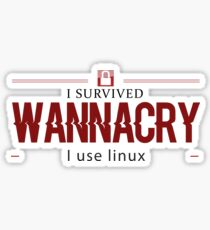 I don't Wanna cry - ransomware cyberattack attack Sticker