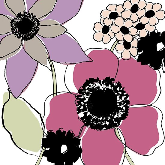 Scribbles Elegant Flower Doodles II by mindydidit