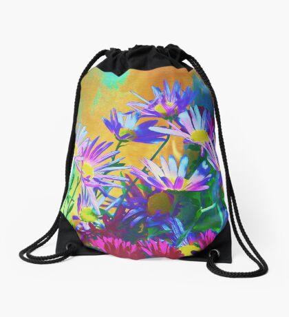 Flowers bloom Drawstring Bag
