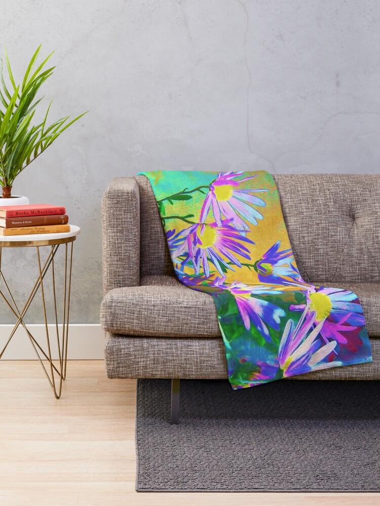 Alternate view of Flowers bloom Throw Blanket