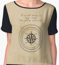 Moby Dick - Herman Melville - True Places Women's Chiffon Top