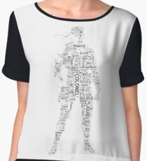 Metal Gear Solid - Solid Snake - Typography Chiffon Top