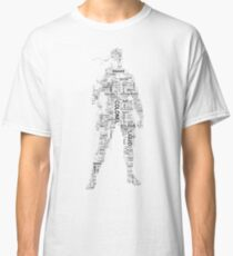 Metal Gear Solid - Solid Snake - Typography Classic T-Shirt