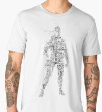 Metal Gear Solid - Solid Snake - Typography Men's Premium T-Shirt