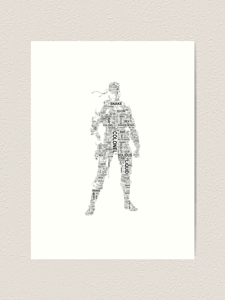 Metal Gear Solid Solid Snake Typography Art Print