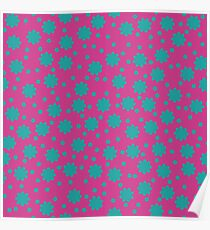 Bright floral pattern Poster