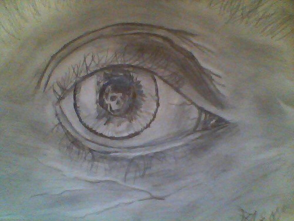 the eye of a skull by Boomchaka