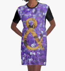 Purple AND Yellow Graphic T-Shirt Dress