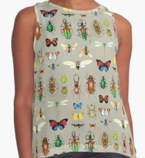 The Usual Suspects - Insects on grey - watercolour bugs pattern by Cecca Designs Contrast Tank