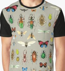 The Usual Suspects - Insects on grey Graphic T-Shirt