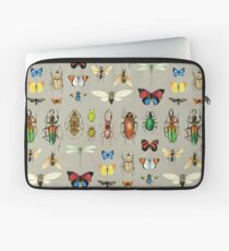 The Usual Suspects - Insects on grey - watercolour bugs pattern by Cecca Designs Laptop Sleeve