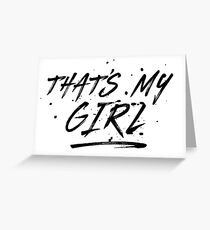Fifth Harmony That's My Girl Official 7/27 Merch #5 ( Black ) Greeting Card