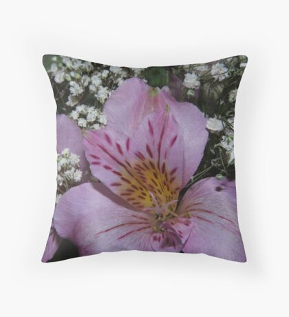 The Color Lilac Throw Pillow