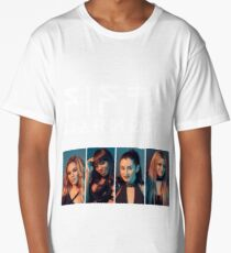 Fifth Harmony Portrait #WhiteText Long T-Shirt