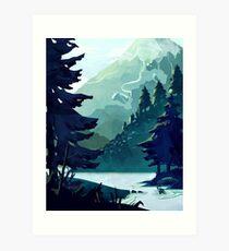 Kanadischer Berg Kunstdruck
