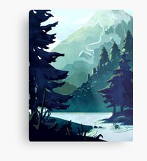 Canadian Mountain Metal Print