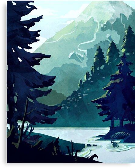 Kanadischer Berg von MicaelaDawn