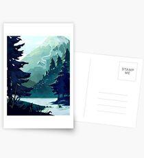 Canadian Mountain Postcards