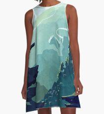 Kanadischer Berg A-Linien Kleid