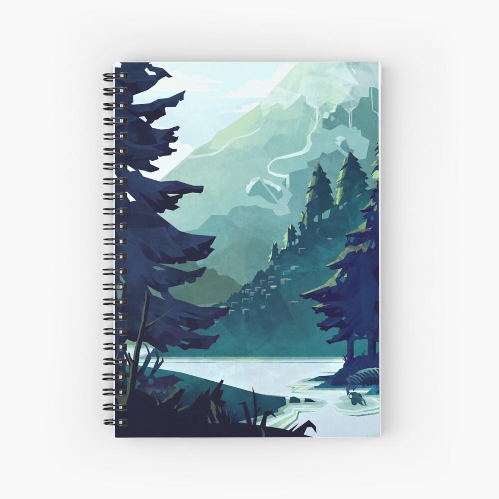 Canadian Mountain Spiral Notebook