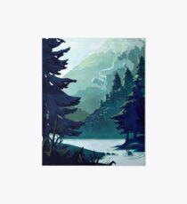 Lámina de exposición Montaña canadiense