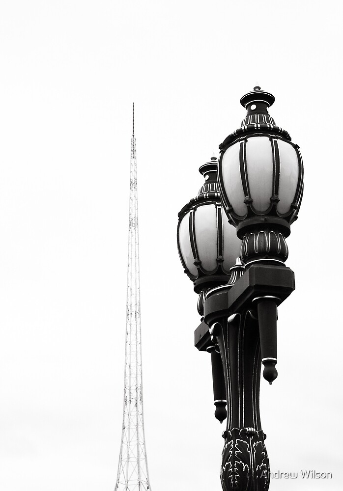 Melbourne Spire and lamp by Andrew Wilson