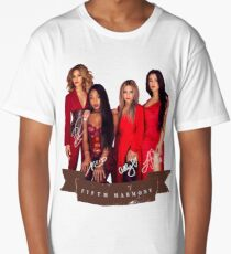 Fifth Harmony Portrait With Signatures Long T-Shirt