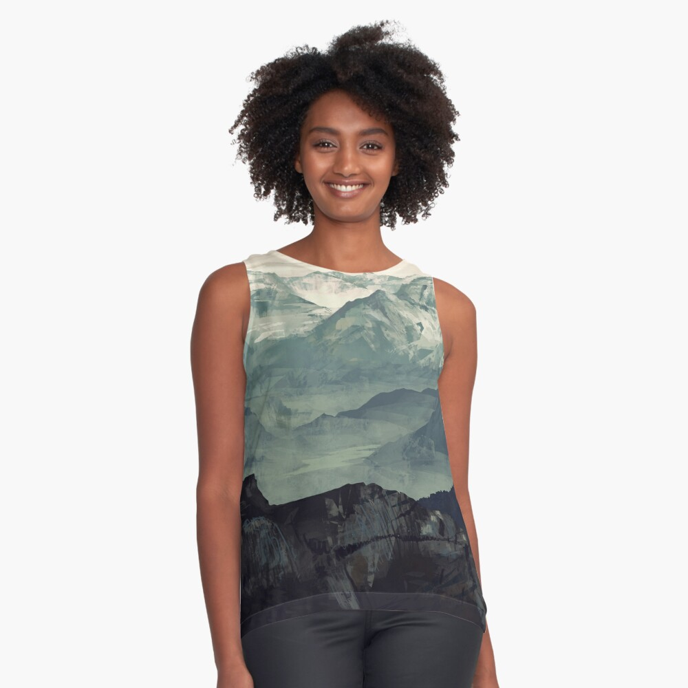Mountain Fog Sleeveless Top
