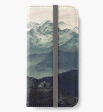 Berg Nebel iPhone Flip-Case/Hülle/Skin