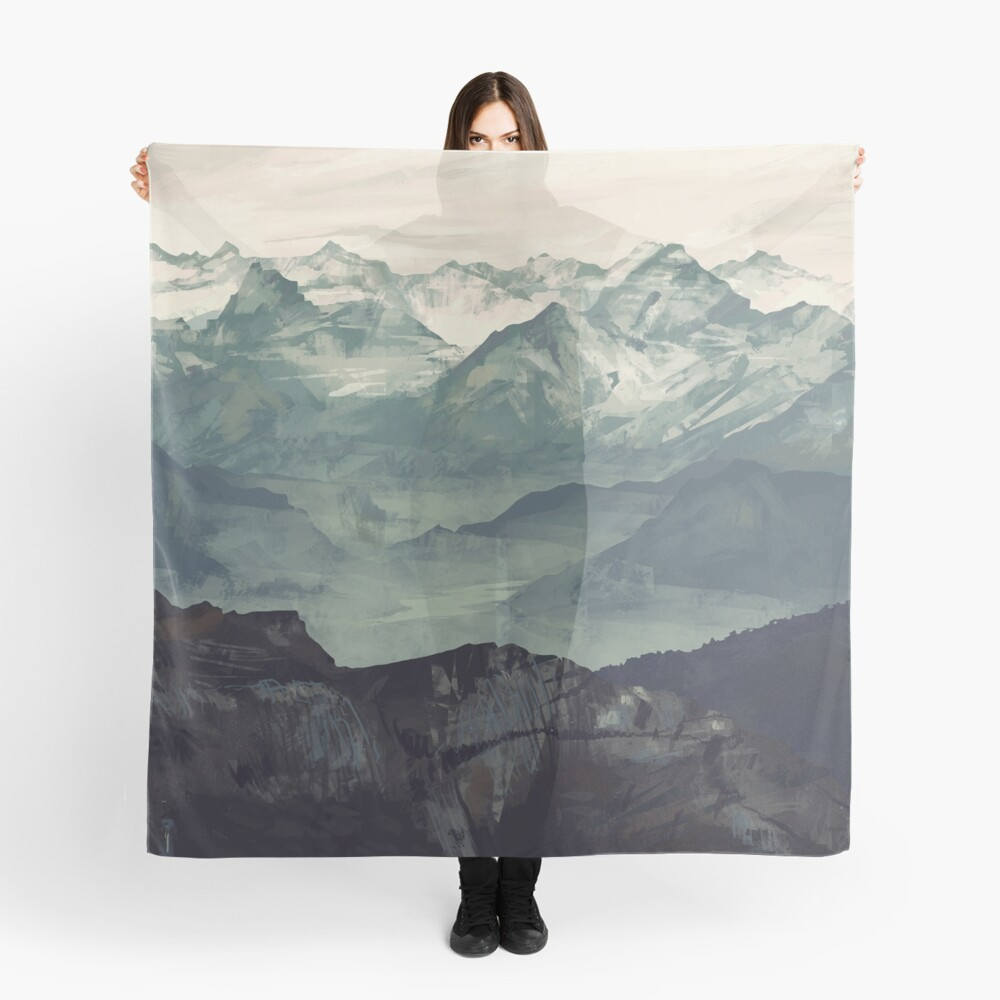 Mountain Fog Scarf Front