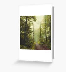 Long Forest Walk Greeting Card