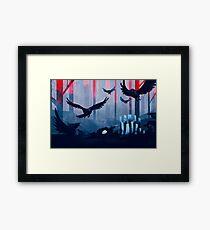 Blue Stone Landscape Framed Print