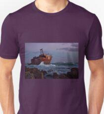 Shipwreck at Sunset Unisex T-Shirt
