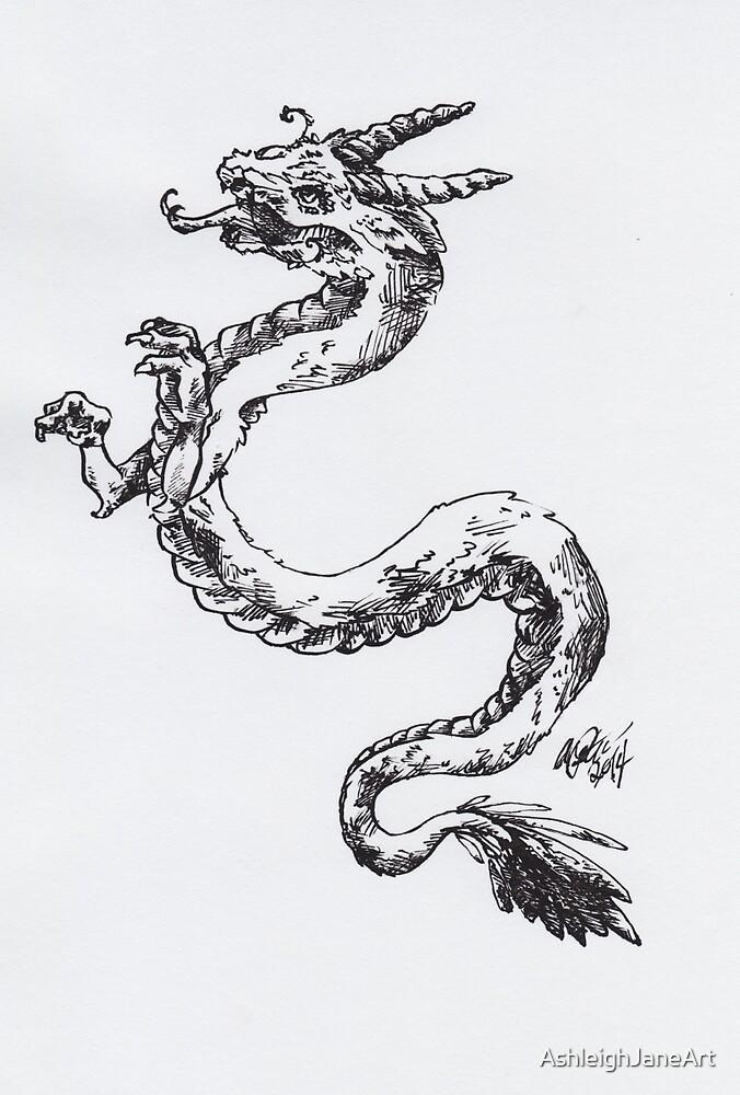 Ink Dragon by AshleighJaneArt