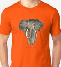 Mother Elephant Grey Unisex T-Shirt