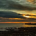 Sunrise At Seaham Pier by Reg-K-Atkinson