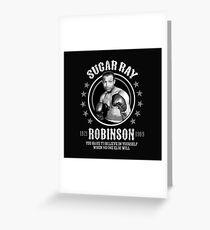 Sugar Ray Robinson Greeting Card